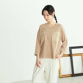 ポケットTシャツ (ベージュ)
