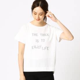 プリント ロゴ Tシャツ (ホワイト)