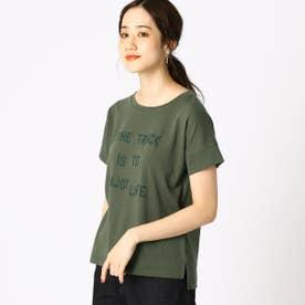 プリント ロゴ Tシャツ (カーキ)