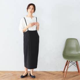 サスペンダー付き スカート (ブラック)