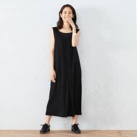 ポンチ ジャンパースカート (ブラック)