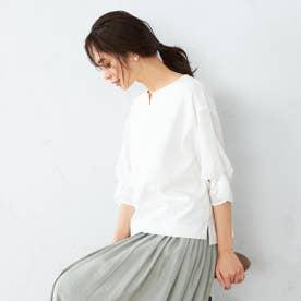 袖デザイン トップス (ホワイト)