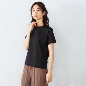 接触冷感 吸水速乾 Tシャツ (ブラック)