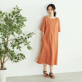 半袖ワンピース アッパッパ (オレンジ)
