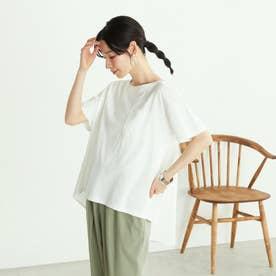 <オーガニックコットン> バッグフレアTシャツ (ホワイト)