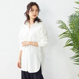フード付きシャツ (ホワイト)