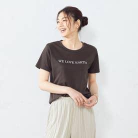 プリントTシャツ (ブラウン)
