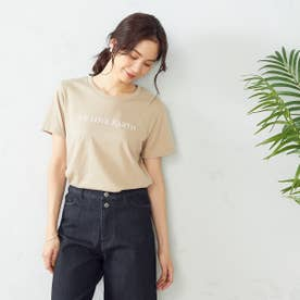プリントTシャツ (ベージュ)