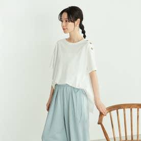 バックフレア Tシャツ (ホワイト)