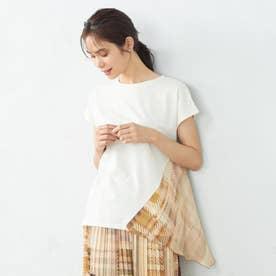 モザイクチェックプリントドッキングTシャツ (イエロー系チェック)