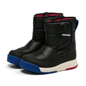 キッズ ジュニア 男の子 女の子 子供 ブーツ キッズ CVスター ブーツ WP スノーブーツ 防水 防滑 撥水 (ブラック)