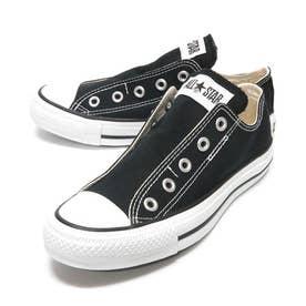 スリップ3 ローカット OX レディース メンズ ユニセックス オールスター スリッポン スニーカー 紐なし 履きやすい 靴 シューズ (ブラック)