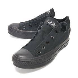 スリップ3 ローカット OX レディース メンズ ユニセックス オールスター スリッポン スニーカー 紐なし 履きやすい 靴 シューズ (ブラックモノクローム)