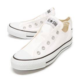 スリップ3 ローカット OX レディース メンズ ユニセックス オールスター スリッポン スニーカー 紐なし 履きやすい 靴 シューズ (ホワイト)