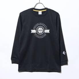 ジュニア バスケットボール 長袖Tシャツ JRプリントロングスリーブTシャツ CB402354L (ブラック)