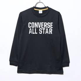 ジュニア バスケットボール 長袖Tシャツ JRプリントロングスリーブTシャツ CB402356L (ブラック)