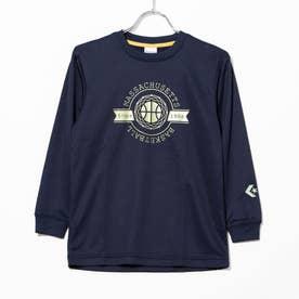 ジュニア バスケットボール 長袖Tシャツ JRプリントロングスリーブTシャツ CB402354L (ネイビー)