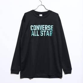 メンズ バスケットボール 長袖Tシャツ プリントロングスリーブTシャツ CB202358L (ブラック)