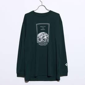 メンズ バスケットボール 長袖Tシャツ プリントロングスリーブTシャツ CB202365L (グリーン)