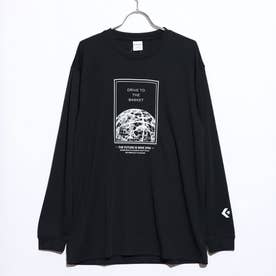 メンズ バスケットボール 長袖Tシャツ プリントロングスリーブTシャツ CB202365L (ブラック)