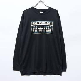 メンズ バスケットボール 長袖Tシャツ プリントロングスリーブTシャツ CB202357L (ブラック)