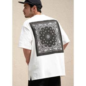 バンダナプリントTシャツ (White)