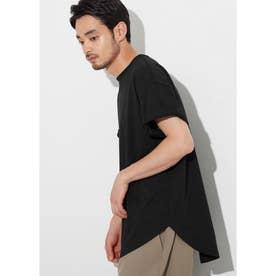 シルキーコットンテールカットTシャツ (Black)