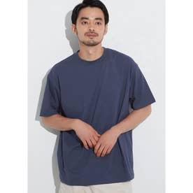 シルキーコットンクルーネックTシャツ (Navy)