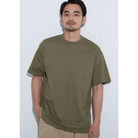 シルキーコットンクルーネックTシャツ (Khaki)