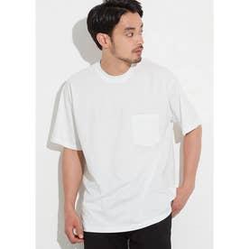 シルキーコットン胸ポケットTシャツ (White)