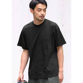 シルキーコットン胸ポケットTシャツ (Black)