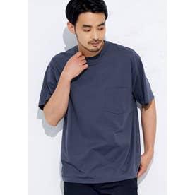 シルキーコットン胸ポケットTシャツ (Navy)