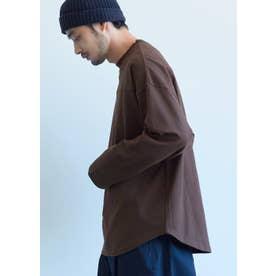 ヘビーウェイトテールカットフットボールTシャツ (Brown)