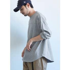 ヘビーウェイトテールカットフットボールTシャツ (Gray)