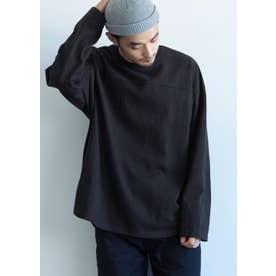 ヘビーウェイトテールカットフットボールTシャツ (Black)