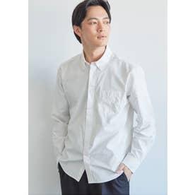 レギュラーフィット長袖シャツ (White)
