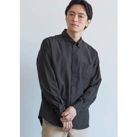 レギュラーフィット長袖シャツ (Black)