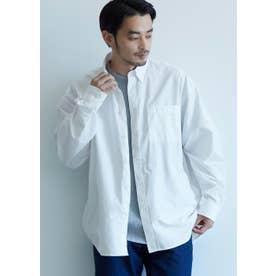 ルーズシルエット長袖シャツ (White)
