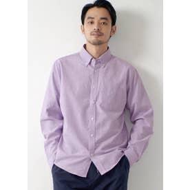レギュラーフィットオックスシャツ (Purple)