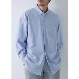 ルーズシルエットオックスシャツ (Blue)