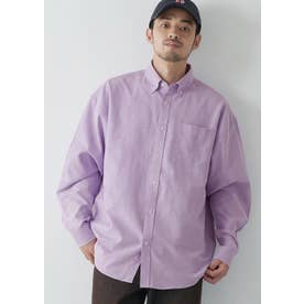 ルーズシルエットオックスシャツ (Purple)
