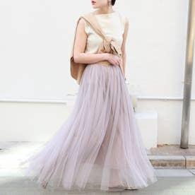 【長さ選べる】上品カラーチュールスカートcocaオリジナル(Lavender)