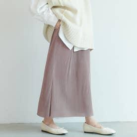 つや感細プリーツタイトスカート(Purple)