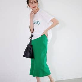 ニットタイトスカートミモレ丈(Green)