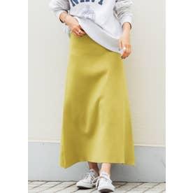 Aラインニットフレアスカート(Yellow)