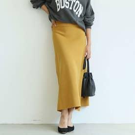 Aラインニットフレアスカート (Mustard)
