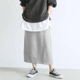Iライン裏起毛スカート (Gray)