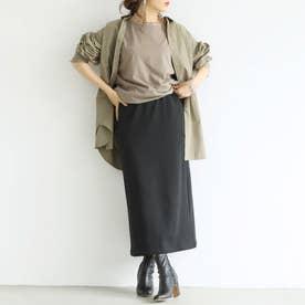 Iライン裏起毛スカート (Black)