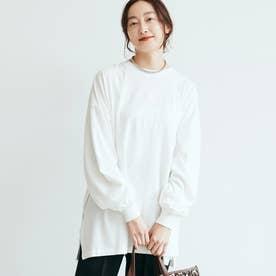 ボリューム袖カットソー (White)