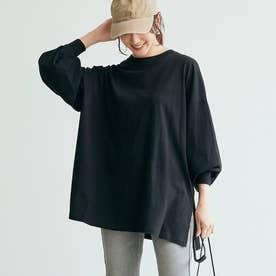 ボリューム袖カットソー (Black)